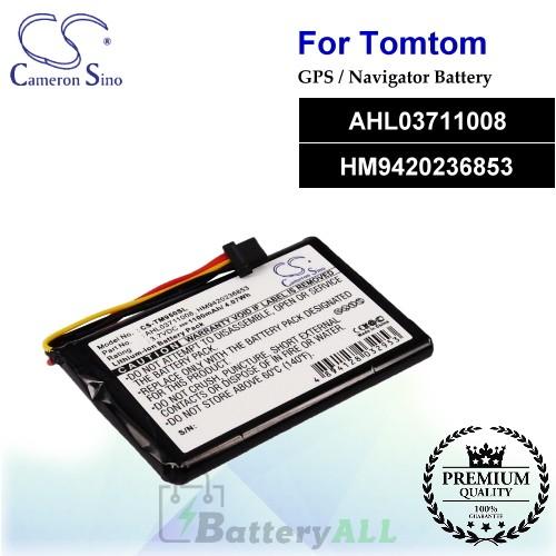 CS-TM950SL For TomTom GPS Battery Model AHL03711008 / HM9420236853