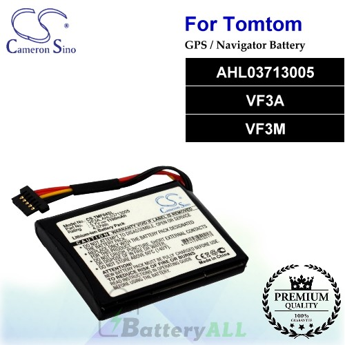 CS-TMF04SL For TomTom GPS Battery Model AHL03713005 / VF3A / VF3M