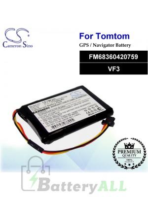CS-TMF3SL For TomTom GPS Battery Model FM68360420759 / VF3