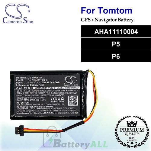 CS-TMG510SL For TomTom GPS Battery Model AHA11110004 / P5 / P6