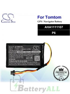 CS-TMG610SL For TomTom GPS Battery Model AHA1111107 / P6