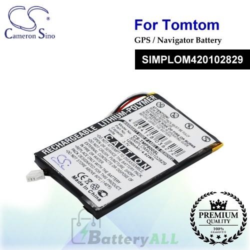 CS-TMP800SL For TomTom GPS Battery Model SIMPLOM420102829