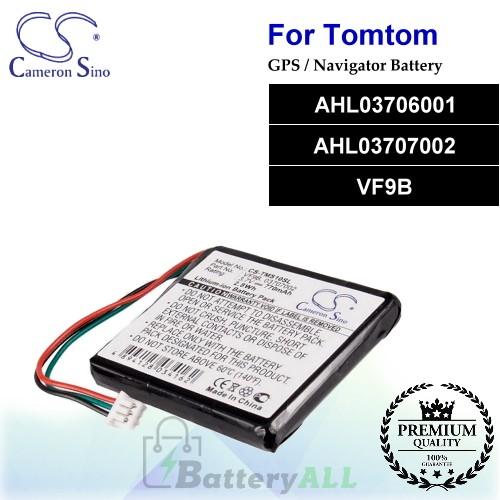 CS-TMS10SL For TomTom GPS Battery Model AHL03706001 / AHL03707002 / VF9B