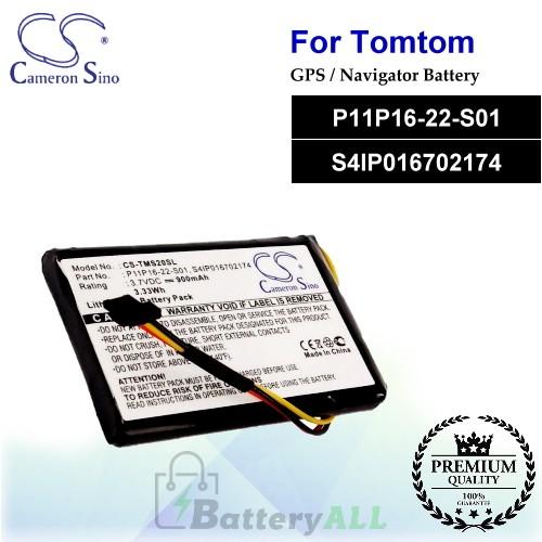 CS-TMS20SL For TomTom GPS Battery Model P11P16-22-S01 / S4IP016702174