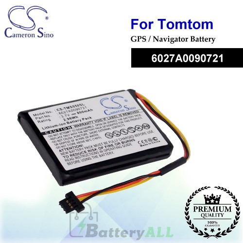 CS-TMS550SL For TomTom GPS Battery Model 6027A0090721