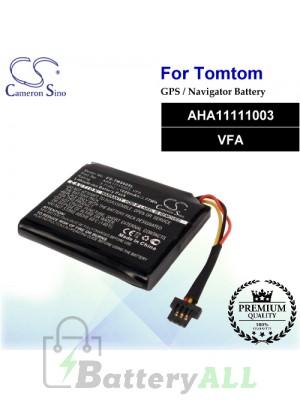 CS-TMS60SL For TomTom GPS Battery Model AHA11111003 / VFA