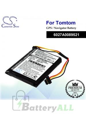 CS-TMV5SL For TomTom GPS Battery Model 6027A0089521
