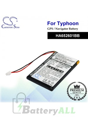 CS-MG3000SL For Typhoon GPS Battery Model HA652601BB