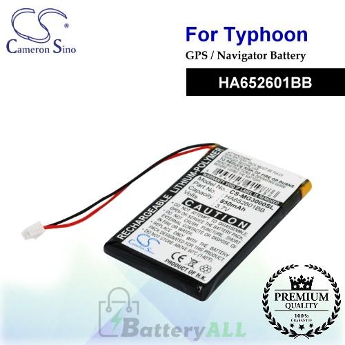 CS-MG3000SL For Typhoon GPS Battery Model HA652601BB
