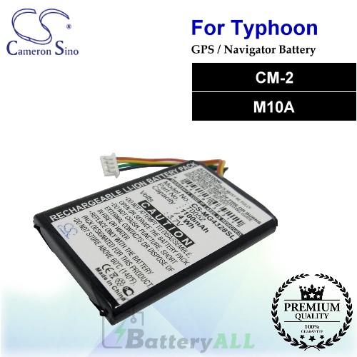 CS-MG4328SL For Typhoon GPS Battery Model CM-2 / M10A