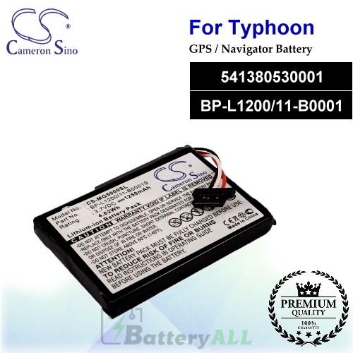 CS-MG5000SL For Typhoon GPS Battery Model 541380530001 / BP-L1200/11-B0001