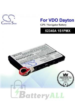 CS-VPN200SL For VDO Dayton GPS Battery Model 52340A 1S1PMX