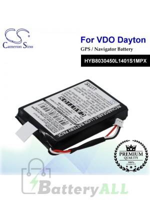 CS-VPN205SL For VDO Dayton GPS Battery Model HYB8030450L1401S1MPX