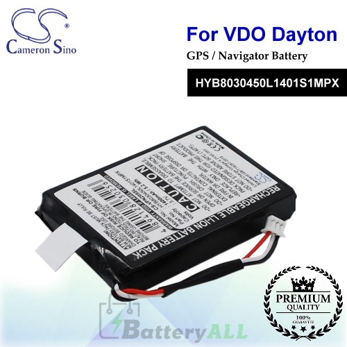 CS-VPN205SL For VDO Dayton GPS Battery Model HYB8030450L1401S1MPX
