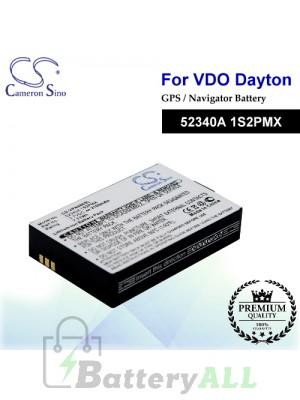 CS-VPN400SL For VDO Dayton GPS Battery Model 52340A 1S2PMX
