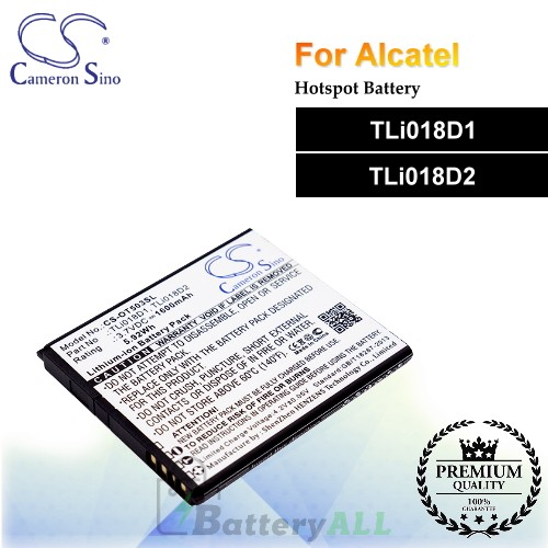 CS-OT503SL-2 For Alcatel Hotspot Battery Model TLi018D1 / TLi018D2
