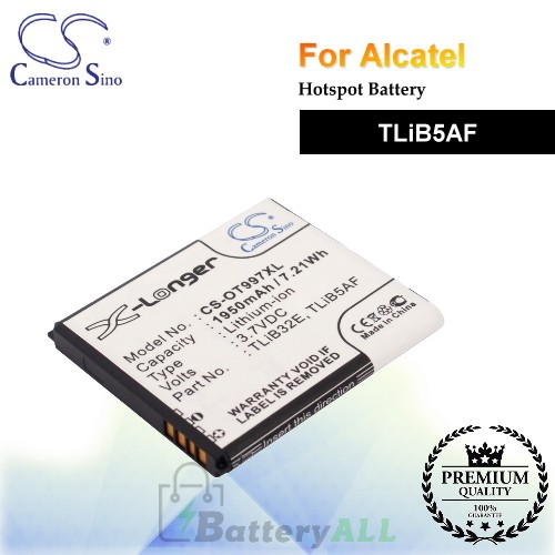 CS-OT997XL For Alcatel Hotspot Battery Model TLiB5AF