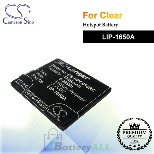 CS-HPC910RC For Clear Hotspot Battery Model LIP-1650A