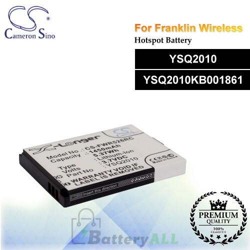 CS-FWR526RC For Franklin Wireless Hotspot Battery Model YSQ2010 / YSQ2010KB001861