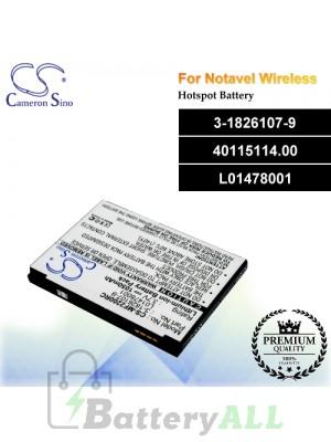 CS-MF2200RC For Novatel Wireless Hotspot Battery Model 3-1826107-9 / 40115114.00 / L01478001