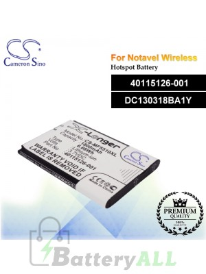 CS-MF5510XL For Novatel Wireless Hotspot Battery Model 40115126-001 / DC130318BA1Y