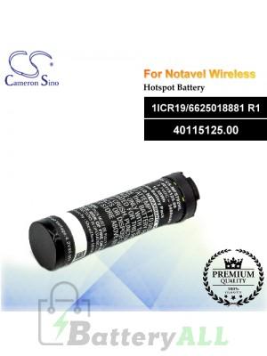 CS-MF5792HL For Novatel Wireless Hotspot Battery Model 1ICR19/6625018881 R1 / 40115125.00