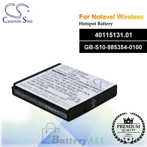 CS-MF6620SL For Novatel Wireless Hotspot Battery Model 40115131.01 / GB-S10-985354-0100