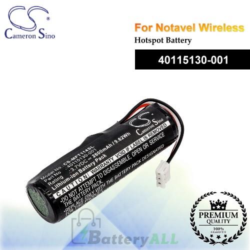 CS-MFT114SL For Novatel Wireless Hotspot Battery Model 40115130-001
