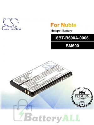 CS-NWD660RC For Nubia Hotspot Battery Model 6BT-R600A-0006 / BM600
