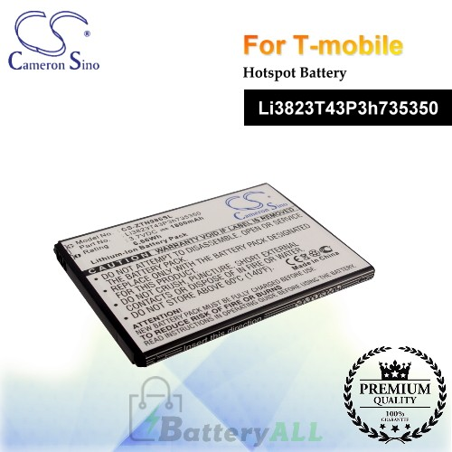CS-ZTN986SL For T-Mobile Hotspot Battery Model Li3823T43P3h735350