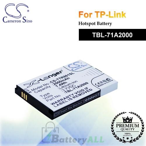 CS-TTR861SL For TP-Link Hotspot Battery Model TBL-71A2000