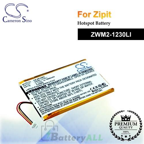 CS-ZPV2RC For Zipit Hotspot Battery Model ZWM2-1230LI