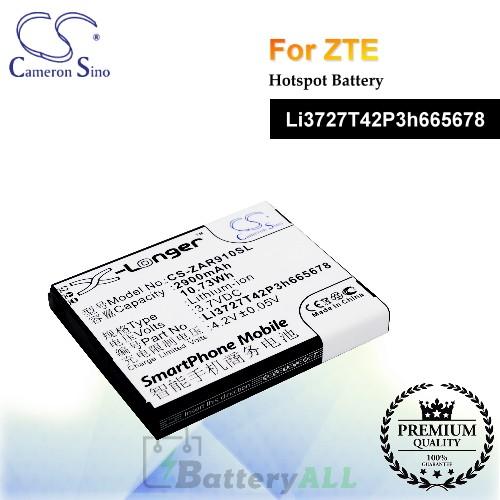CS-ZAR910SL For ZTE Hotspot Battery Model Li3727T42P3h665678