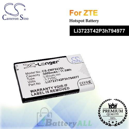 CS-ZMF923SL For ZTE Hotspot Battery Model Li3723T42P3h794977