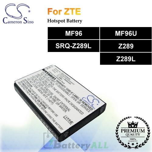 CS-ZTF960SL For ZTE Hotspot Battery Fit Model MF96 / MF96U / SRQ-Z289L / Z289 / Z289L