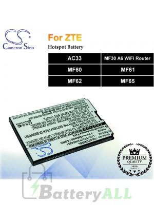 CS-ZTU230SL-2 For ZTE Hotspot Battery Fit Model AC33 / MF30 A6 WiFi Router / MF60 / MF61 / MF62 / MF65