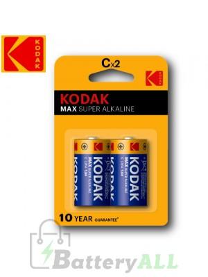 Kodak MAX Alkaline C / R14P(UM-2) / IMPA 792402 / MN1400 / LR14 1.5V Battery (2 pack)