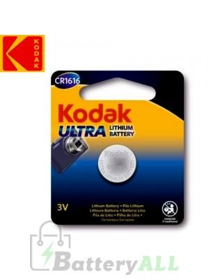 Kodak ULTRA Lithium CR1616 / KCR1616 / DL1616 / E-CR1616 3.0V Battery (1 pack)