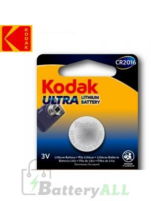Kodak ULTRA Lithium CR2016 / 5000LC / KCR2016 / DL2016 / E-CR2016 3.0V Battery (1 pack)