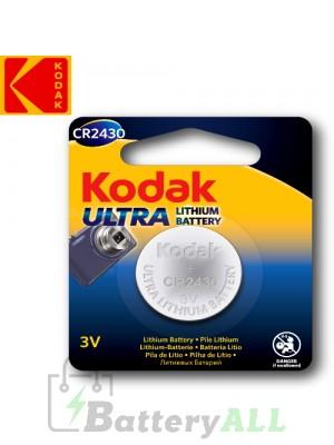 Kodak ULTRA Lithium CR2430 / 5011LC / DL2430 / KCR2430 / E-CR2430 3.0V Battery (1 pack)