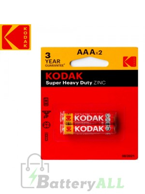 Kodak Zinc Super Heavy Duty AAA / R03(UM-4) / IMPA 792410 1.5V Battery (2 pack)