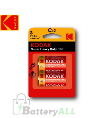 Kodak Zinc Super Heavy Duty C / R14P(UM-2) / IMPA 792402 1.5V Battery (2 pack)