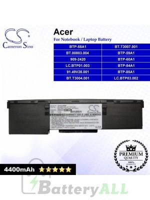 CS-AC240NB For Acer Laptop Battery Model 909-2420 / 91.49V28.001 / BT.00803.004 / BT.T3004.001 / BT.T3007.001