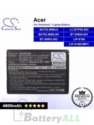 CS-AC2700 For Acer Laptop Battery Model BATELW80L8 / BATELW80L8H