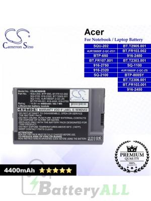 CS-AC660HB For Acer Laptop Battery Model 4UR18650F-2-QC-ZG1 / 4UR18650F-2-QC-ZS / 916-2320 / 916-2450