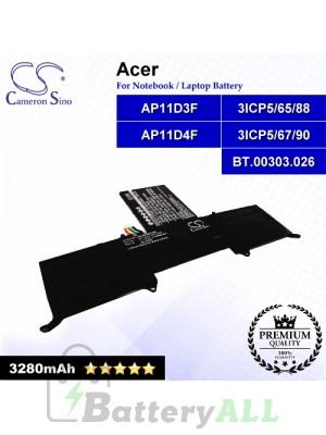 CS-ACS951NB For Acer Laptop Battery Model 3ICP5/65/88 / 3ICP5/67/90 / AP11D3F / AP11D4F / BT.00303.026