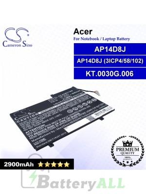 CS-ACW171NB For Acer Laptop Battery Model AP14D8J / AP14D8J (3ICP4/58/102) / KT.0030G.006