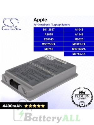 CS-AM1078NB For Apple Laptop Battery Model 661-2927 / A1078 / A1148 / E68043 / M9325 / M9325G/A