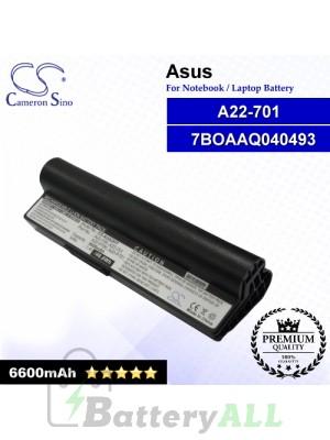 CS-AUA2HT For Asus Laptop Battery Model 7BOAAQ040493 / 90-OA001B1100 / A22-701 / A22-P701 (Black)