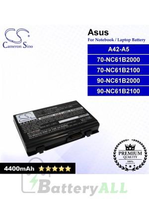 CS-AUA500NB For Asus Laptop Battery Model 70-NC61B2000 / 70-NC61B2100 / 90-NC61B2000 / 90-NC61B2100 / A42-A5